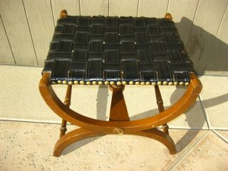 Unique Vintage X Bench Known As A Savonarola X Bench Or Dante Bench Footstool photo