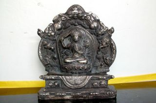 Collectibles Old Tibetan Buddhis Manjushri Bronze Buddha Statue photo
