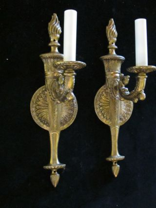 @@ Pair Of Fench Bronze Wall Sconces photo