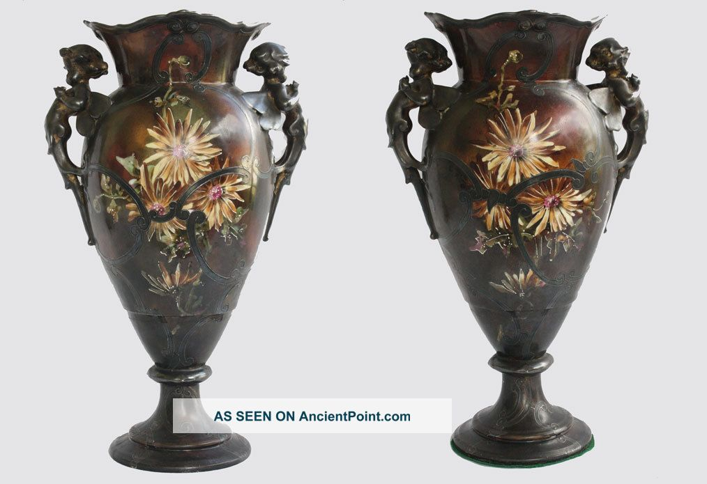 Limoges Porcelain Vases