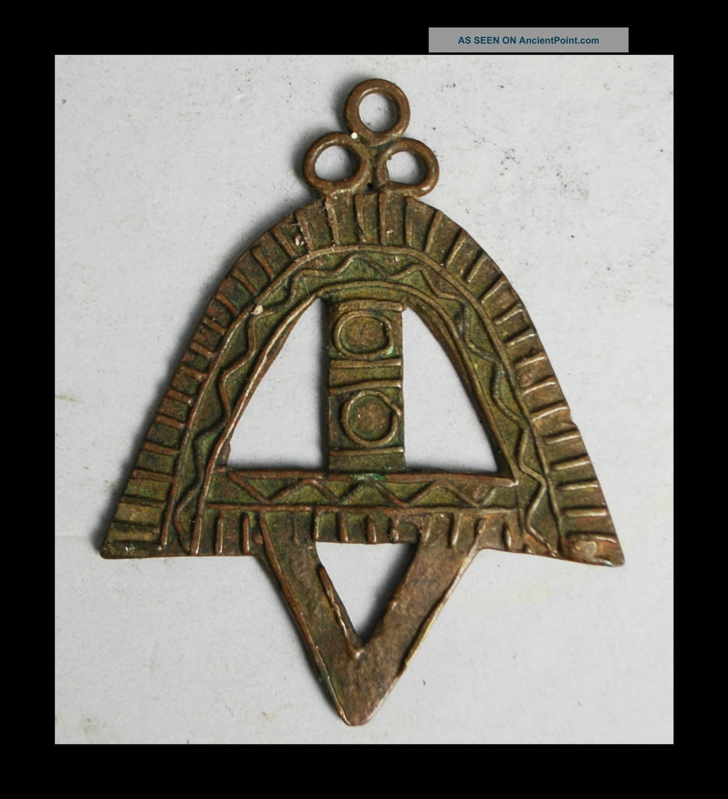 A Big +beautiful 18thc Akan Gold Measuring Weight Ex European Collectn Other photo