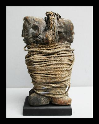 A Resonant Encrusted Ewe Tribe Double Power Figure From Ghana photo