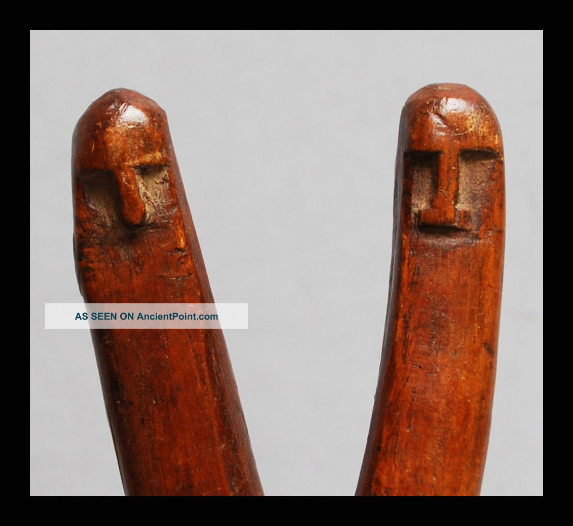A Really Interesting And Well Patinated Catapult With 2 Faces,  Baule Tribe Other photo