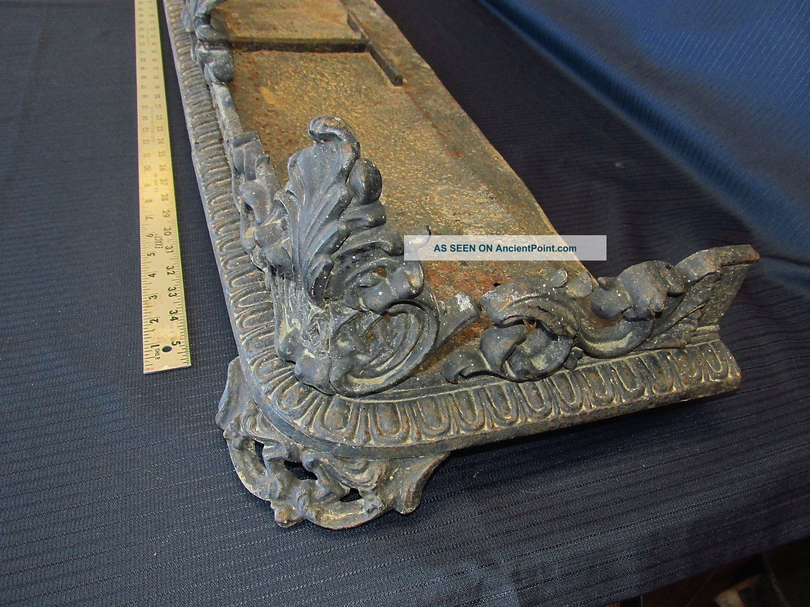 Antique Cast Iron Fireplace Fender Platform Victorn Mantle Surround Heating Photos and Information in AncientPoint