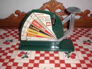 Vintage Antique Green Jiffy - Way Egg Scale - Sears - David Bradley photo