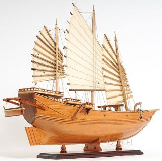 Chinese Pirate Junk Wooden Ship Model 27