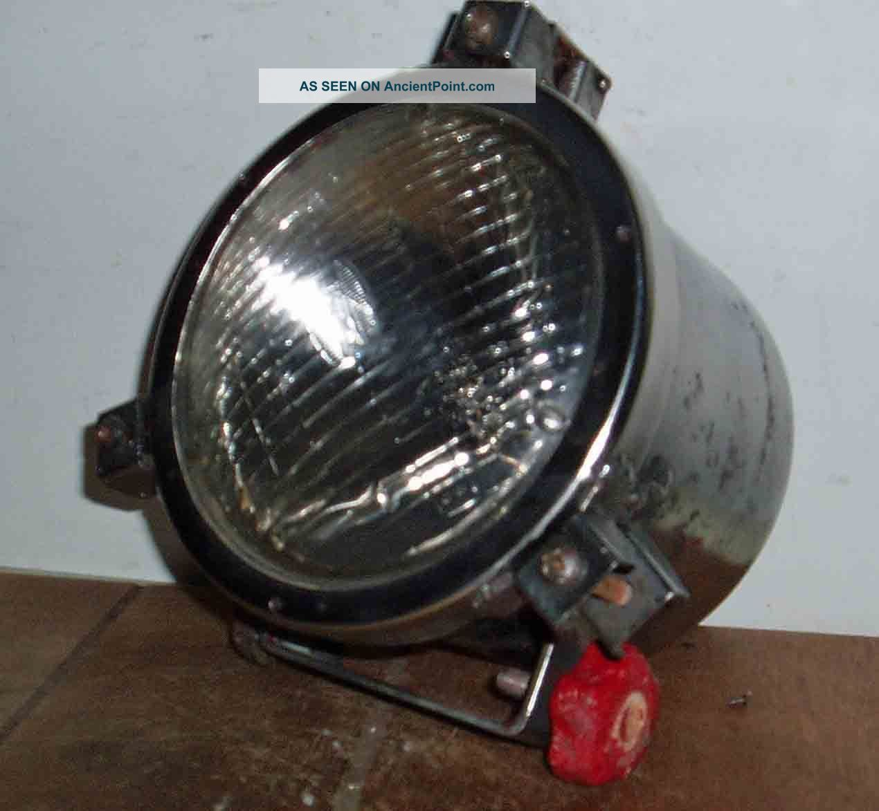 Nautical C1960 German Fishing Trawler Spot Light Electric Safety Glass Front Uncategorized photo