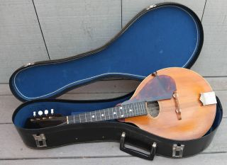 Vintage Or Antique The Gibson Mandolin Model A Serial Number 12014 With Case photo