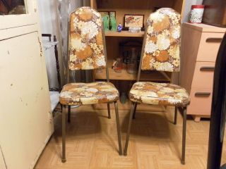 Two Vintage Ca.  1975 Kitchen Chairs photo