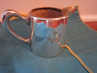 Antique Christofle Silver Pavillion Henry Iv Hotel Restaurant Creamer W/ Crest photo