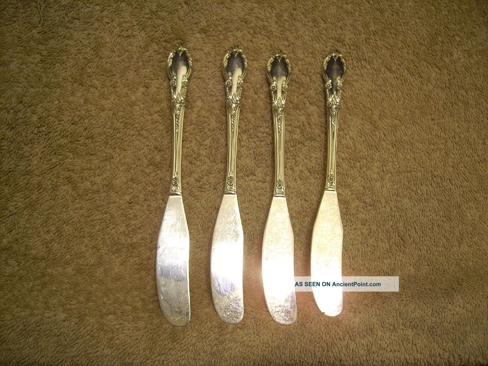 4 Rogers 1952 Enchantment Individual Butter Spreaders Oneida Ltd London Town Oneida/Wm. A. Rogers photo