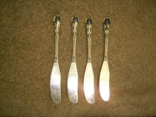 4 Rogers 1952 Enchantment Individual Butter Spreaders Oneida Ltd London Town photo