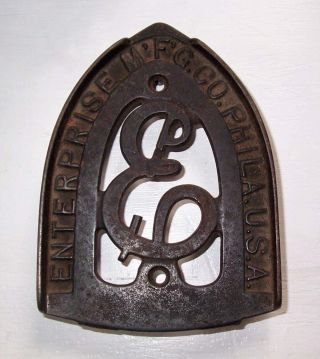Vintage Enterprise Mfg Co Cast Iron Trivet Iron Rest Philadelphia photo