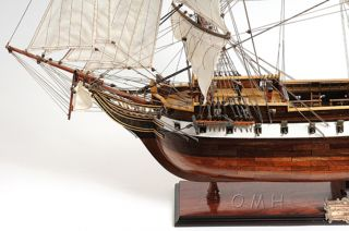 Uss Constellation Frigate Wooden Tall Ship Model 38