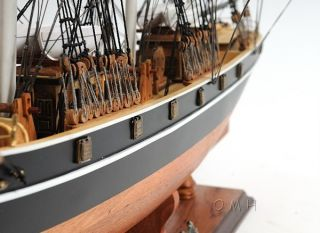 Cutty Sark No Sails Wooden Tall Ship Model 34