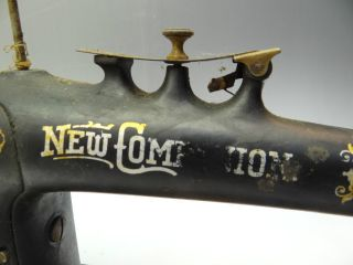 Antique Old Metal Cast Iron Ornate The New Companion Sewing Machine Body Parts photo