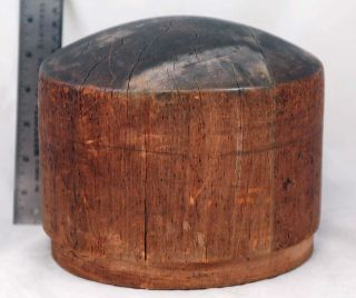 Vintage Or Antique Wood Hat Form Mold Industrial Millinery Owned By Lillian Head photo