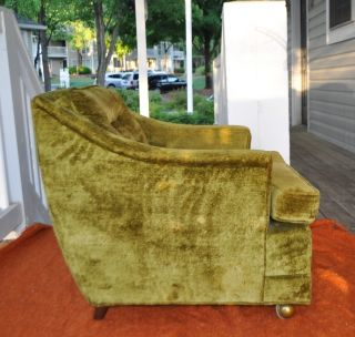 Mid Century Modern Danish Adrian Pearsall Style Lounge Chair,  Olive Green Color photo