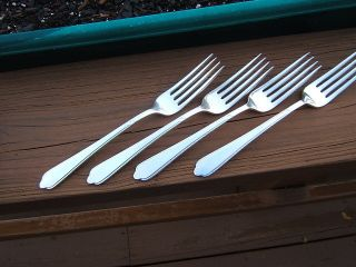 4 International Holmes & Edwards Guest Of Honor Dinner Forks 7 5/8