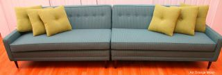 Vintage Pin - Striped Mid Century Mod Sectional Sofa Milo Baughman Thayer Coggins photo