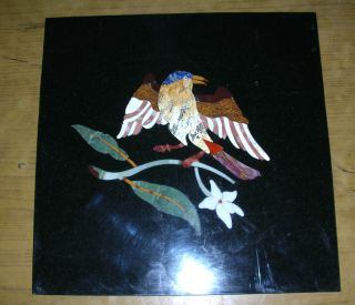 Pietra Dura Wall Decor Bird On Grapevine See photo