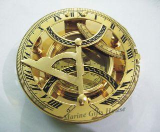Maritime Brass Sundial Compass 5
