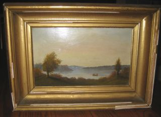 19th Century Hudson Valley Simplicity In Fine Folk Art Painting photo