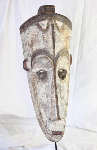 A Stately And Old Fang Ngil Mask From Gabon photo