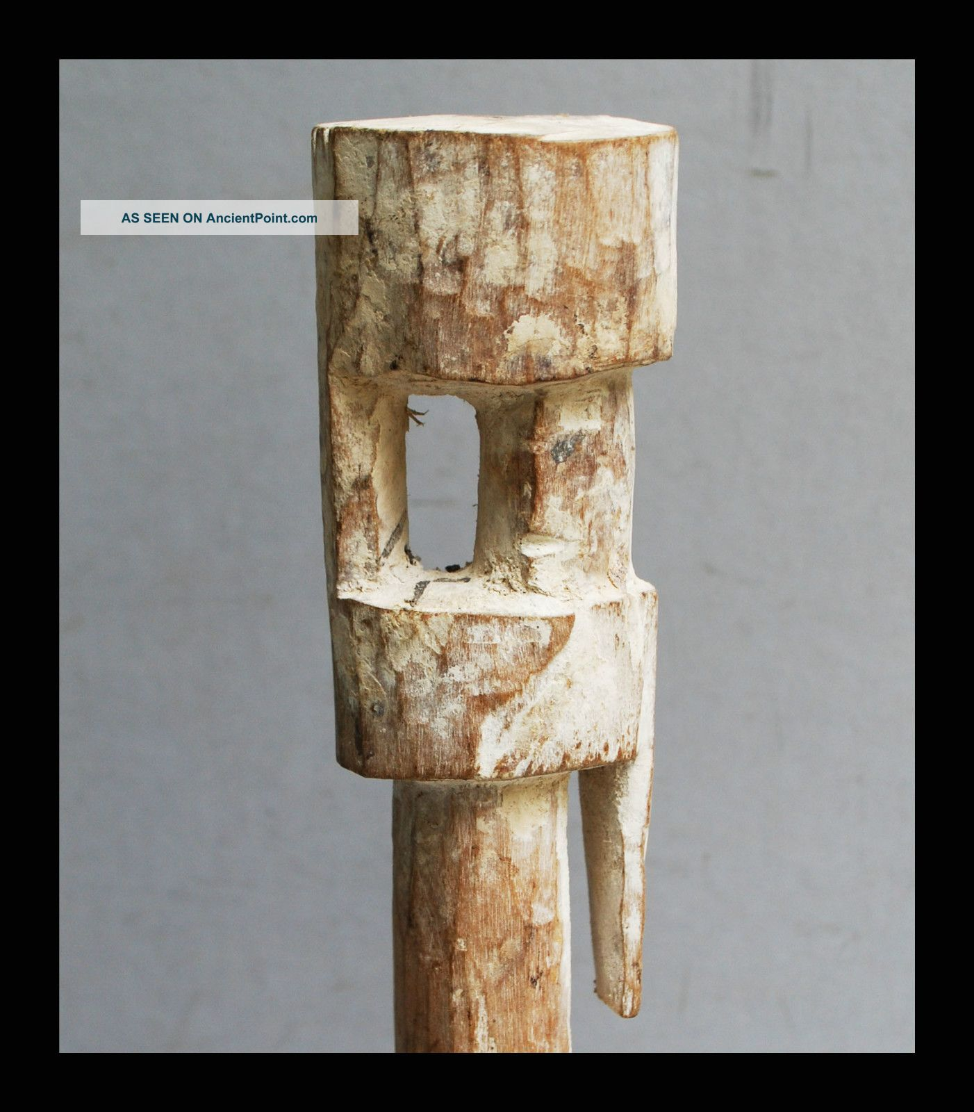 A Tall Abstract,  Kaolin Pigment Ancestor Figure From The Adan Tribe Of Ghana Other photo