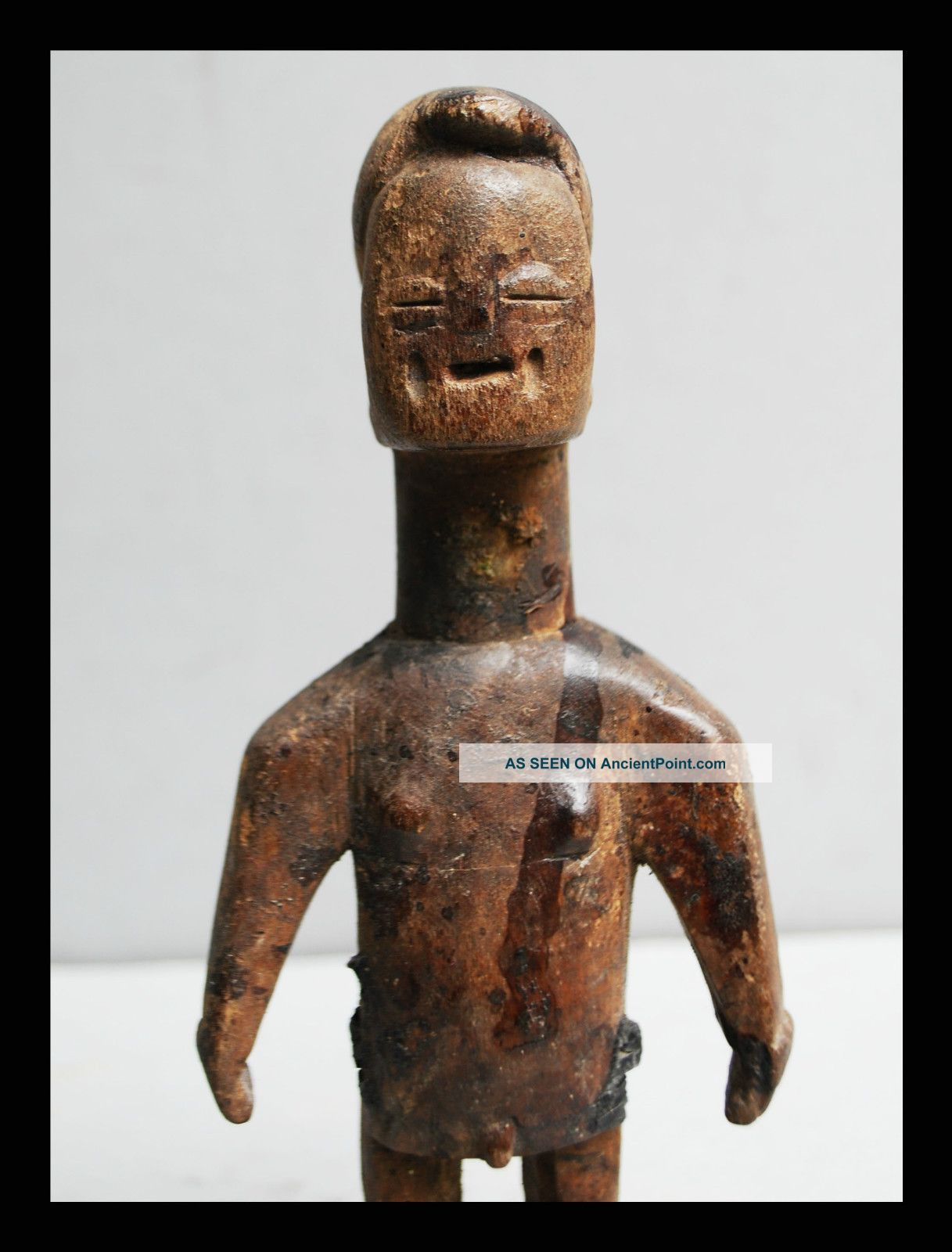 A Old Venavi Doll From The Ewe Tribe Of Togo,  With Scarification +libations Other photo