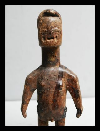 A Old Venavi Doll From The Ewe Tribe Of Togo,  With Scarification +libations photo