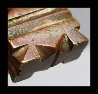 An Exceptionally Chunky Geometric 18thc Akan Gold Weight Ex European Collectn photo