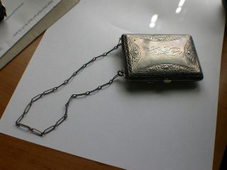 Rare Antique Sterling Interior Dance /coin Lady's Purse Made By Whsco photo