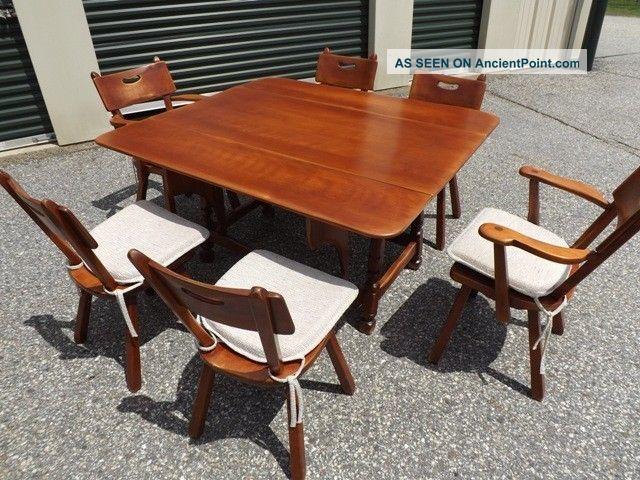 Cushman Colonial Creations Rock Maple Dining Room Chairs, Cushions ...