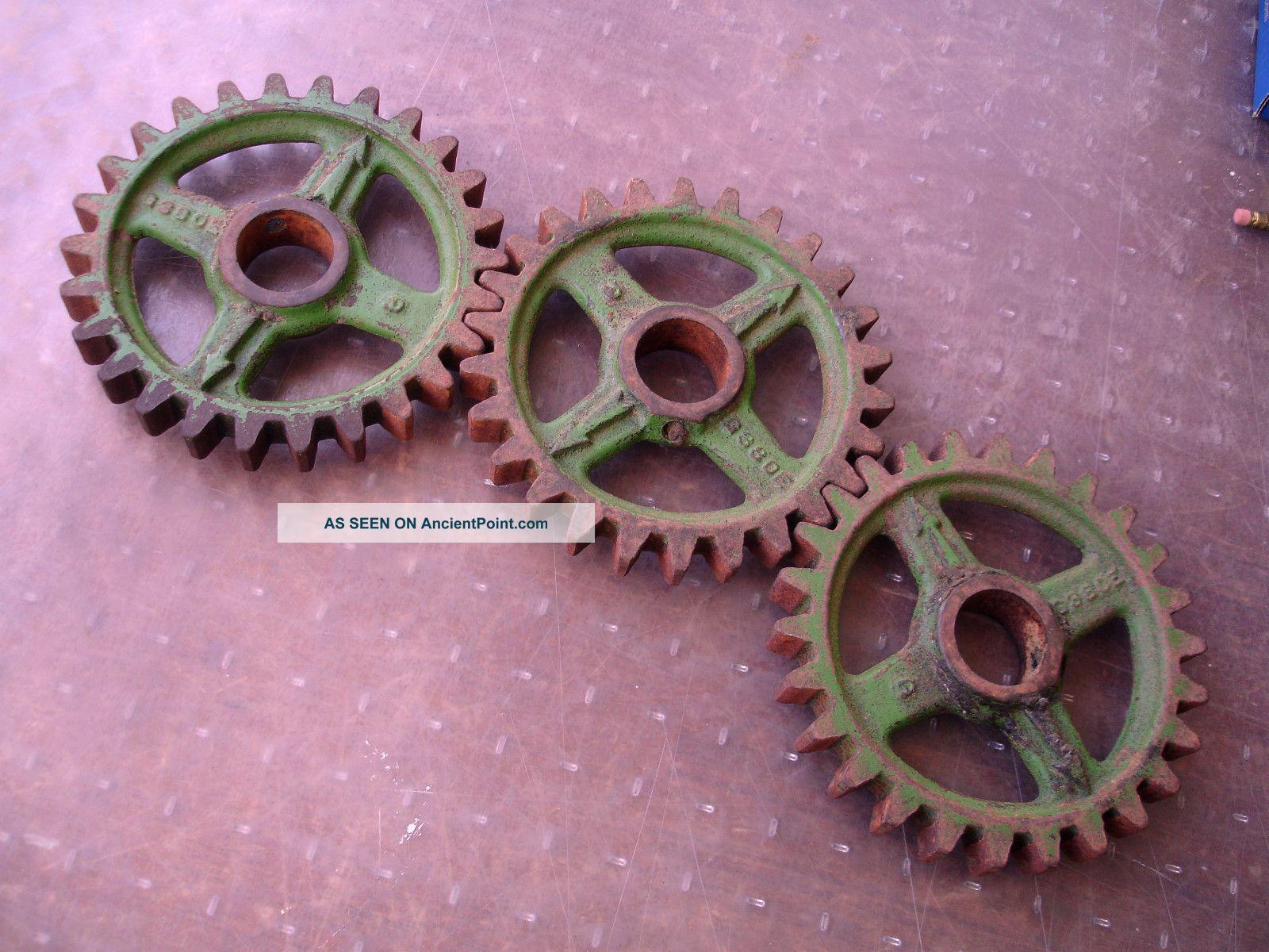 Vintage Industrial Cast Iron Gears - Cog