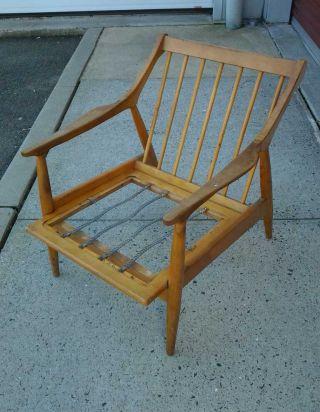 1960 ' S Modern Danish Style Arm Lounge Chair photo