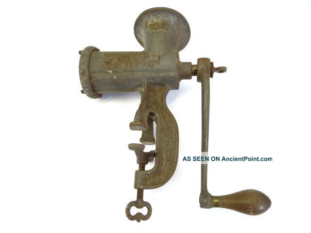 Antique Old Enterprise Mfg Co No 10 Metal Tinned Meat Chopper Sausage Grinder Nr Meat Grinders photo