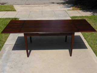Danish Mid Century Modern Rosewood Dining Table Extending Vodder Moller photo