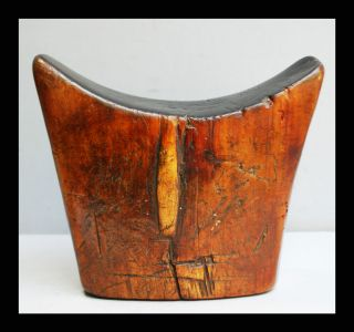 An Exceptionally Heavy + Tactile,  Well Patinated Headrest From Ethiopia photo