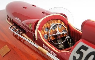 Ferrari Hydroplane Wooden Power Speed Boat Model 32