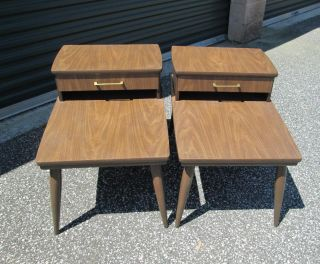 Vintage Step / End Tables Mid - Century Danish Modern 1960 ' S Wow photo