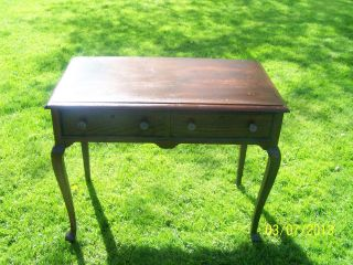 Antique 2 Draw Vintage Desks With Caster Wheels Front Claw Feet photo