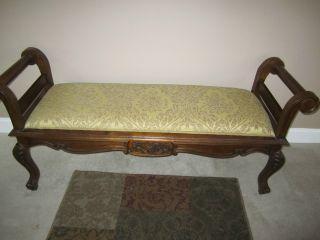 Vintage Mahogany Large Bench photo