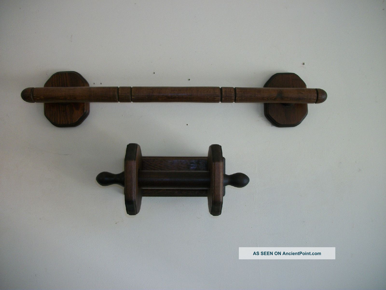 Three Mountaineers,  Asheville,  Nc,  Pine Wood Towel Bar & Toilet Tissue Holder Other photo
