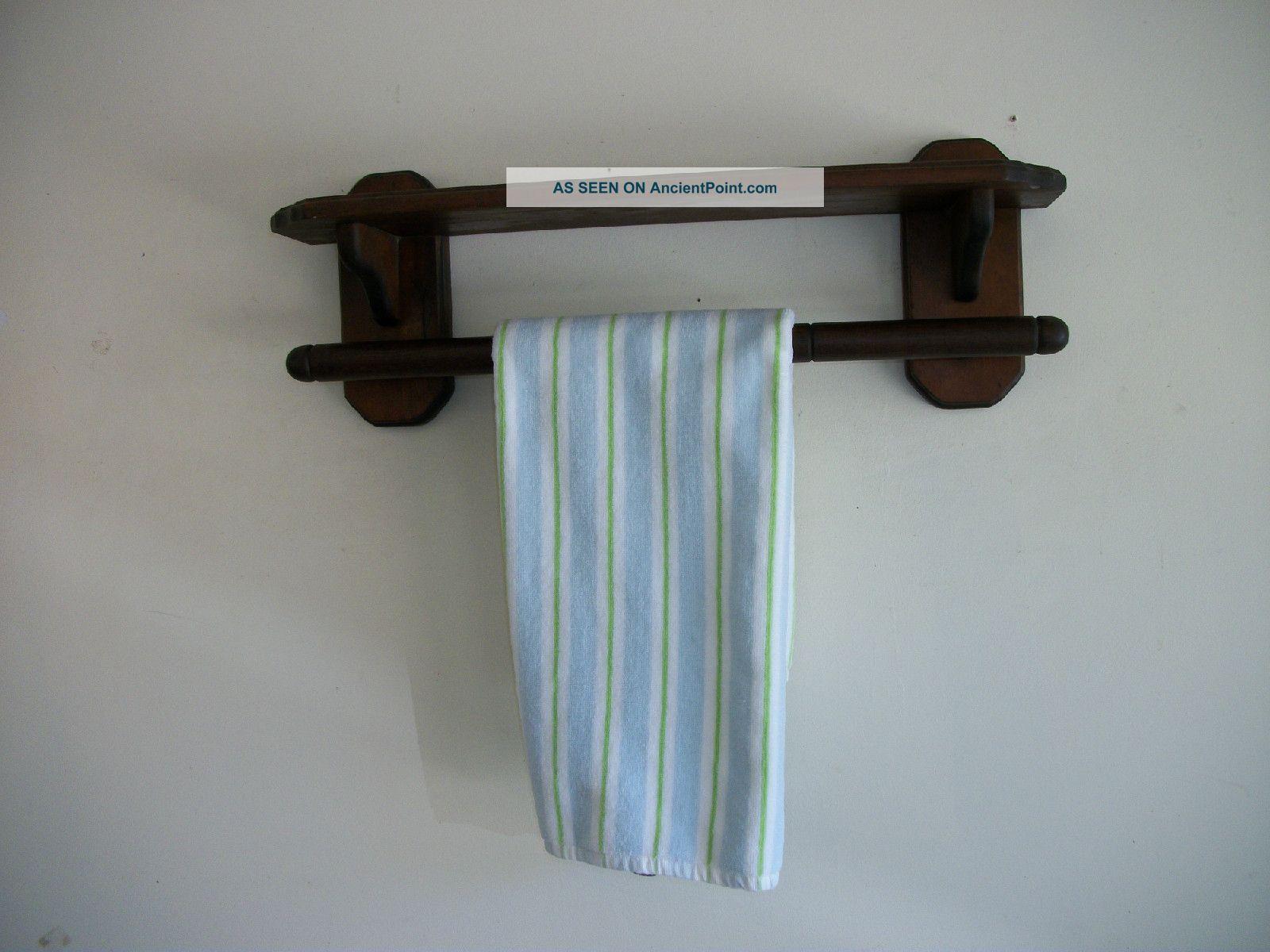 Three Mountaineers Pine Wood Wall Mount Shelf & Towel Rack ...