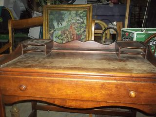 Writing Desk,  Hand Made,  Cherry Finish photo