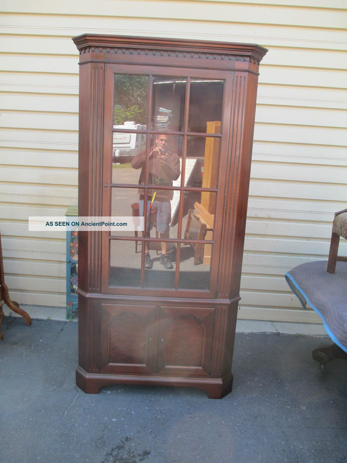 Repurposed china cabinets pictures just b cause for Affordable furniture dubuque