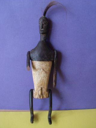 Unusual Vintage African Carved Tribal Vessel Depicting Male Figure photo