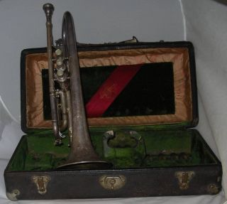 Antique Frank Holton Trumpet - Couturier Model - 1920 ' S Maybe photo