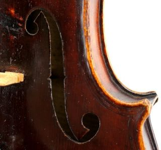 Antique German Violin - Guarnerius Model - Deep,  Dark And Powerful Tone photo
